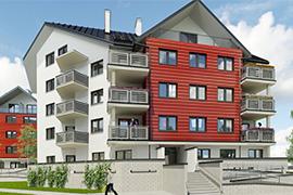 Apartamenty Zygmuntowska przy zbiegu ulic Dąbrówki i Zygmuntowskiej w Mielcu